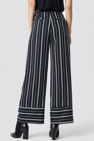 Pantaloni Tie Waist Striped Wide2
