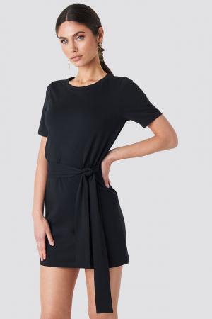 Tie Waist T-shirt Dress1