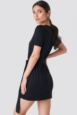 Tie Waist T-shirt Dress2