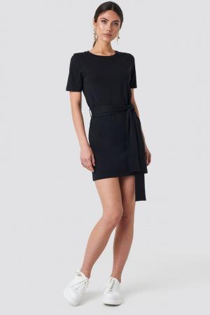 Tie Waist T-shirt Dress0
