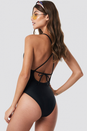 Tied Back Plunge Swimsuit1