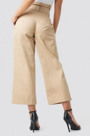 Pantaloni Tied Waist Wide Cotton Pants NA-KD Trend [2]