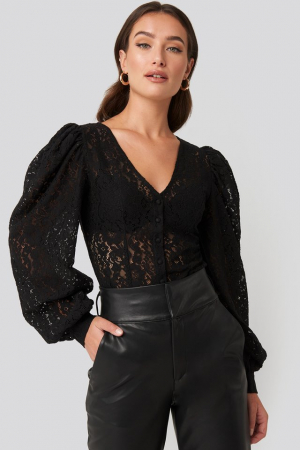 Bluza Volume Puffy Sleeve Lace0