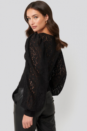 Bluza Volume Puffy Sleeve Lace1
