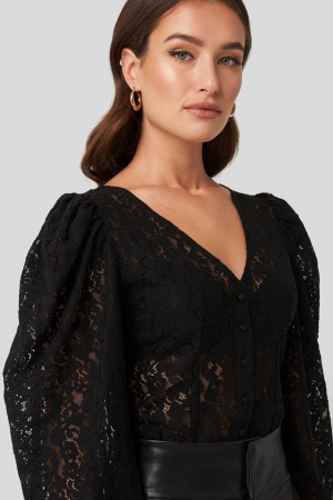 Bluza Volume Puffy Sleeve Lace3