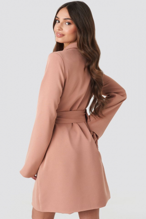 Rochie sacou Wide Sleeve Belted Blazer [1]