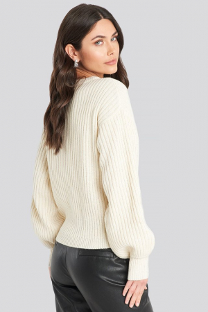 Pulover Wool Blend Ribbed Knitted2