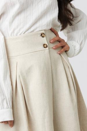 Fusta Wrap Over Linen Look3