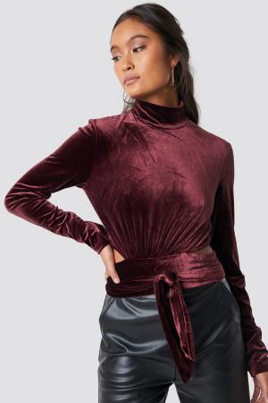 Bluza Wrap Waist Velvet Top [0]
