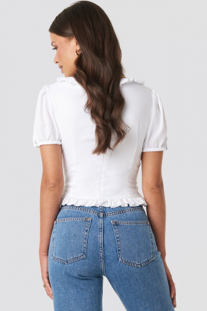 Colleen Cropped Frill Top1