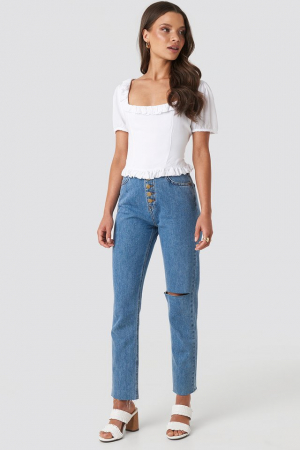 Colleen Cropped Frill Top2