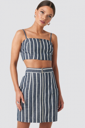 Fusta Zipped Skirt0