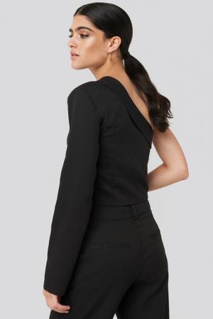 One Shoulder Shirt NA-KD Classic, Black2