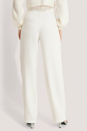 Pantaloni Belted Pleat Straight [1]