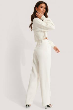 Pantaloni Belted Pleat Straight [2]