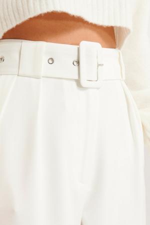 Pantaloni Belted Pleat Straight [3]
