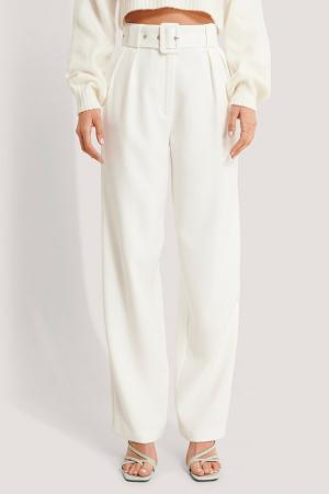 Pantaloni Belted Pleat Straight [4]
