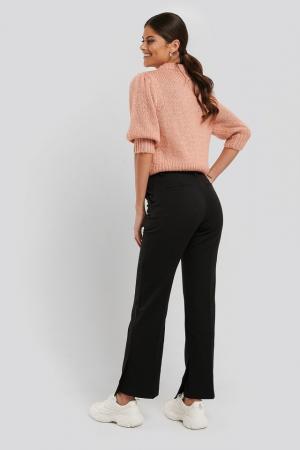 Pantaloni Creased Side Slit [2]