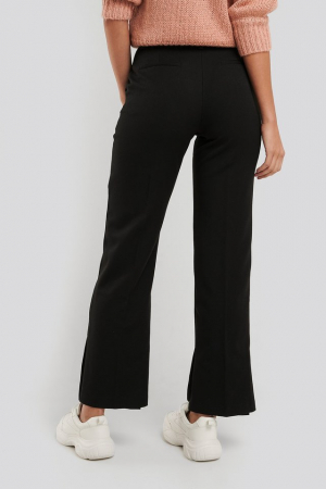 Pantaloni Creased Side Slit [1]