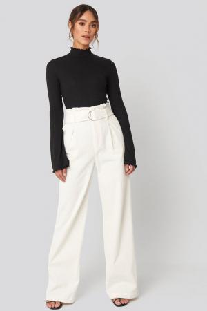 Pantaloni Paper Waist Wide Leg [1]