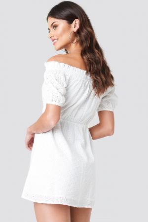 Rochie Off Shoulder Puffy Sleeve1