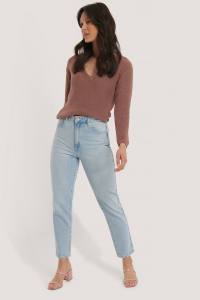 Pulover Deep Front V-neck Knitted4