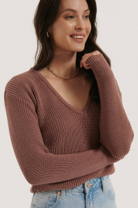 Pulover Deep Front V-neck Knitted0