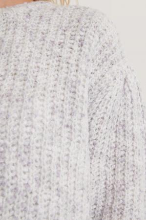 Pulover Short Puff Sleeve Melange [4]