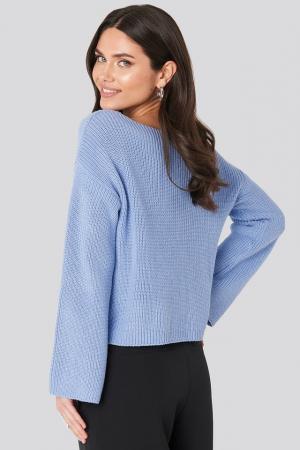 Pulover tricotat cu mânecă lungă1