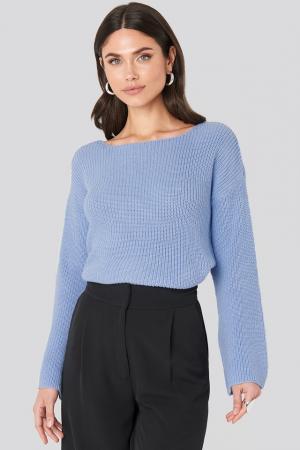 Pulover tricotat cu mânecă lungă0