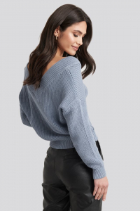 Pulover V-Neck Wide Rib Knitted [0]