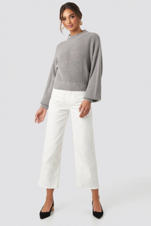 Pulover Volume Sleeve High Neck Knitted Sweater [3]