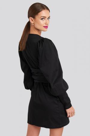 Rochie Bow Detail Long Sleeve Mini1