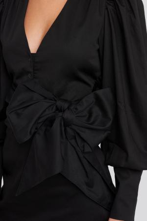 Rochie Bow Detail Long Sleeve Mini3