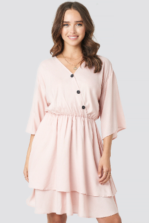 Rochie Contrast Button Layered3