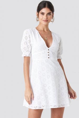 Rochie Cotton Anglaise Mini0