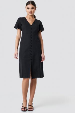 Rochie din in  Button Front Linen-blend3