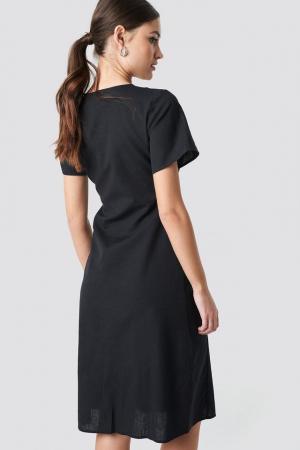 Rochie din in  Button Front Linen-blend2