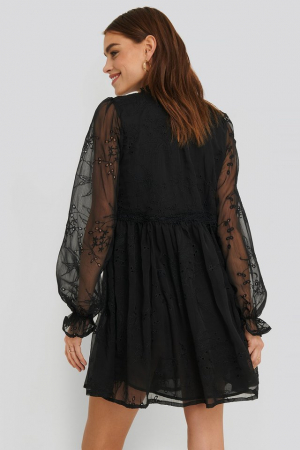 Rochie Frill Neck Embroidery2