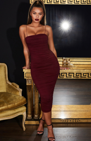 Rochie Keep  It Simple  Ruched Midaxi0