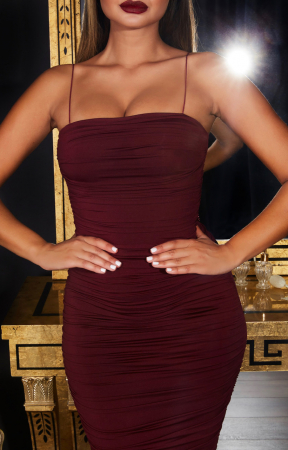 Rochie Keep  It Simple  Ruched Midaxi2