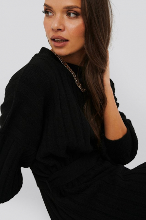 Rochie Oversized Tie Knitted3