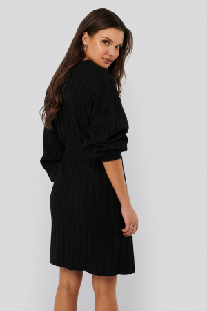 Rochie Oversized Tie Knitted1