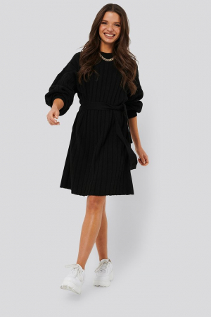 Rochie Oversized Tie Knitted2