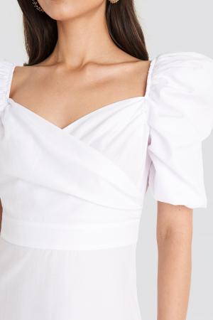 Rochie Puff Shoulder A-Line3