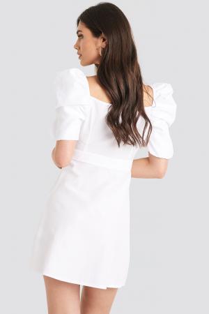Rochie Puff Shoulder A-Line2