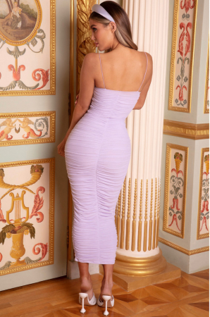 ROCHIE PURE AND SIMPLE RUCHED MESH MIDAXI [1]