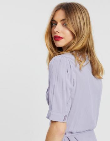 Rochie Wrap Puff Sleeve Mini Dress [1]