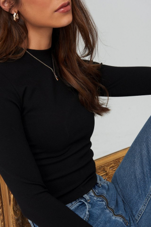 Bluza Turtle Neck Cropped Top [3]