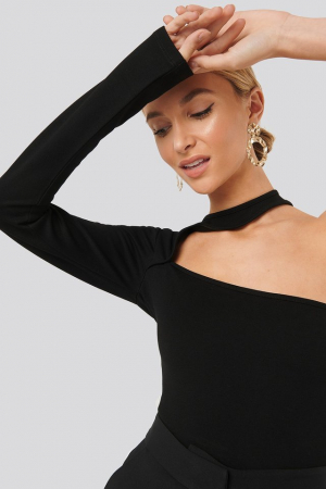 Bluza One Sleeve Cut Out Jersey Top [0]